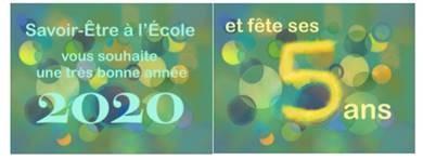 Belle année 2020 à tous les acteurs et soutiens de l'éducation !