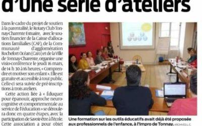 Soutien à la parentalité en Charente Maritime avec le Rotary et la CAF